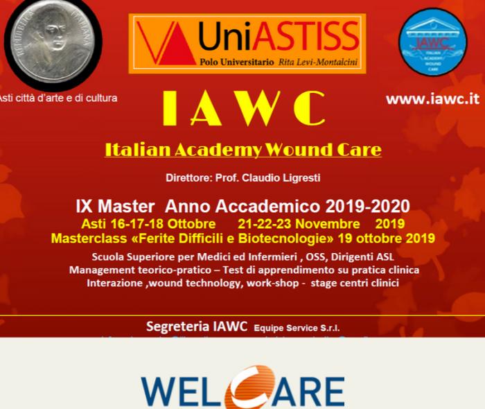 Dal 16 al 18 Ottobre: IX Master IAWC – Italian Academy Wound Care