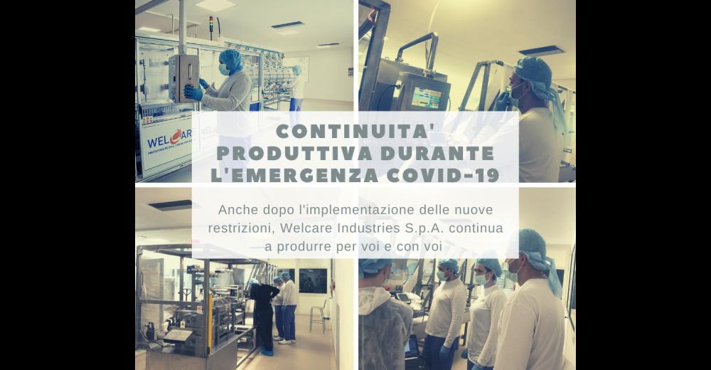 Continuità produttiva durante l'emergenza Covid-19: aggiornamento sulle nuove misure