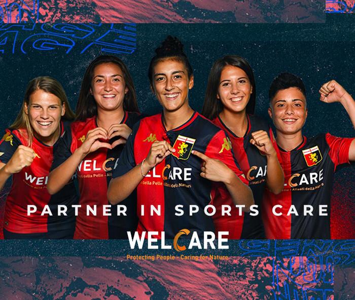"""""""Partners in Sports Care"""": è lo slogan che segna l'unione tra il Genoa Cricket and Football Club e Welcare Industries S.p.A."""