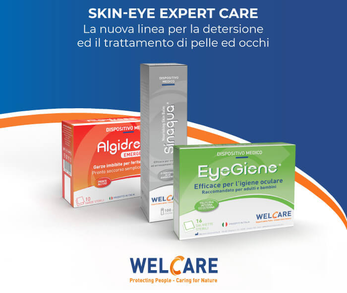 Welcare lancia la nuova linea per la detersione ed il trattamento di pelle ed occhi