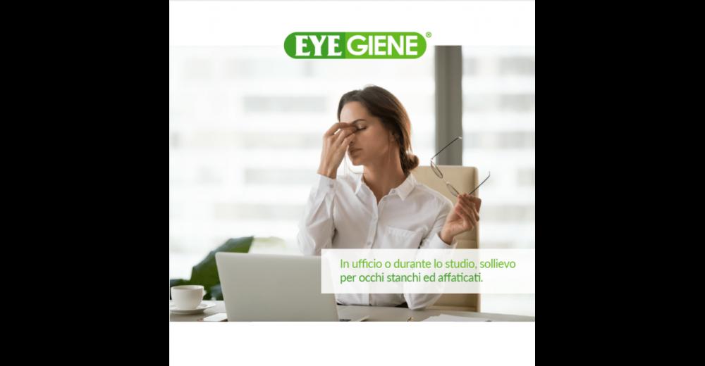Occhi stanchi ed affaticati?  Eyegiene® è la risposta!